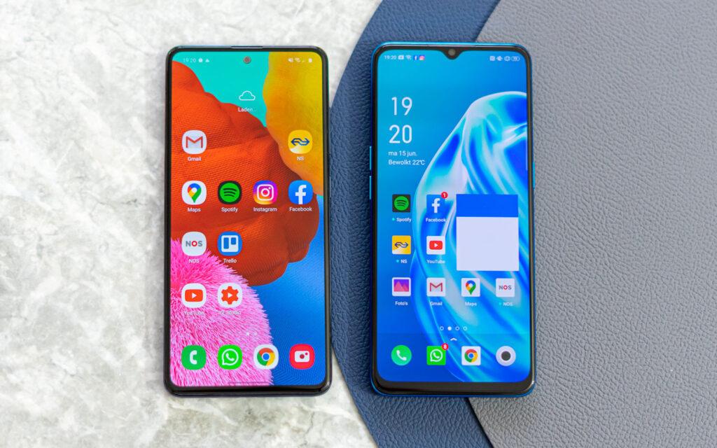Samsung Galaxy A51 vs Oppo A91 uitgelicht