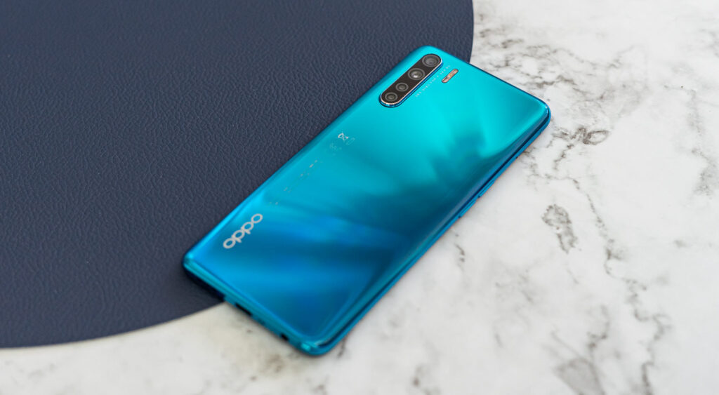 Oppo A91 review achterkant