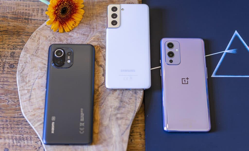 OnePlus 9 vs Xiaomi Mi 11 vs Samsung Galaxy S21 00